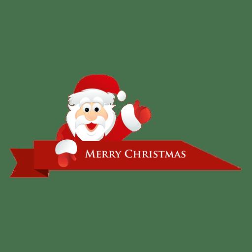 Christmas santa ribbon