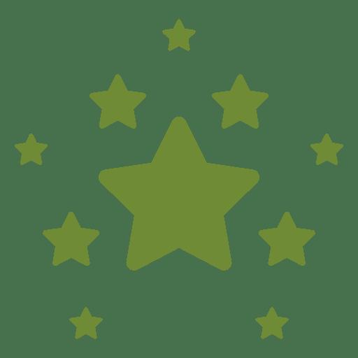 Decoracion de estrellas de navidad Transparent PNG
