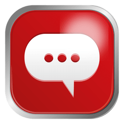 Cloud chat contact icon