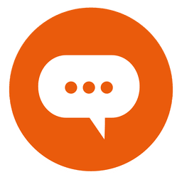 Cloud chat round icon