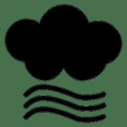 Icono de viento nublado
