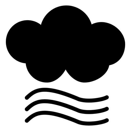 Icono de viento nublado Transparent PNG
