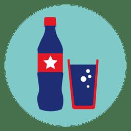 Ícone redondo de Coca-Cola