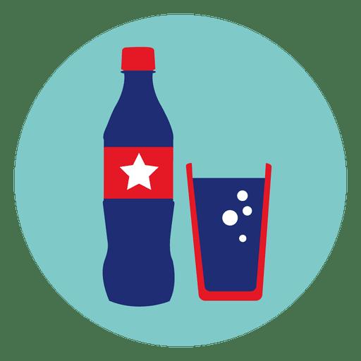 Icono redondo de coca cola Transparent PNG