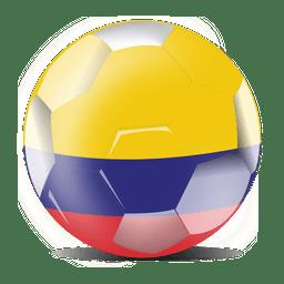 Futebol de bandeira da colômbia