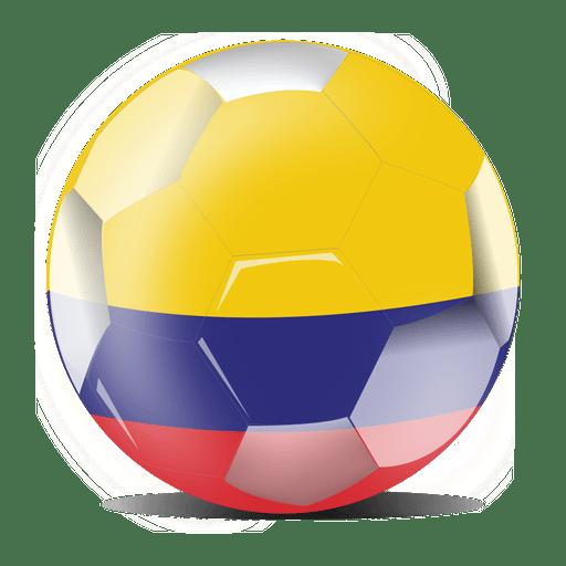 Fútbol de bandera de Colombia Transparent PNG