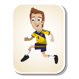 Dibujos animados de futbolista colombiano