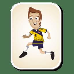 Dibujos animados de jugador de fútbol de Colombia