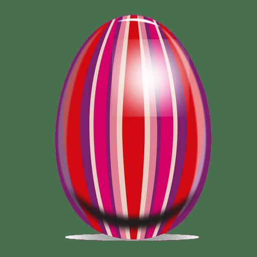Huevo de pascua de rayas de colores