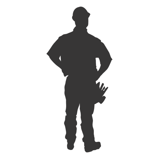 Construction worker carrying tools Transparent PNG
