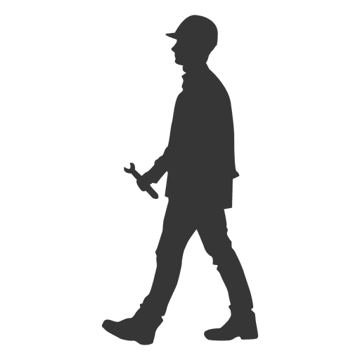 Construction worker holding wrench Transparent PNG