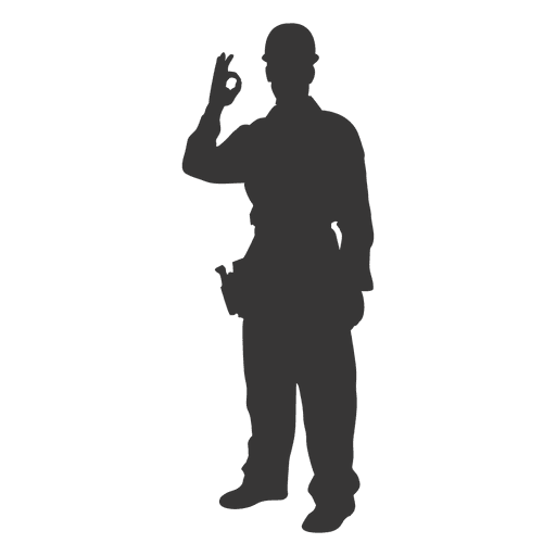 Construction worker signaling perfect Transparent PNG
