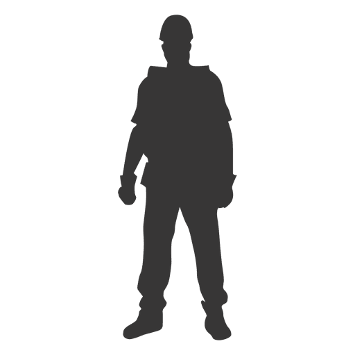 Construction worker standing front Transparent PNG