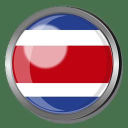 Costa rica flag badge