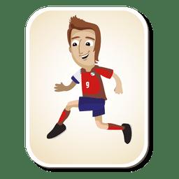 Costa Rica desenhos animados do jogador de futebol