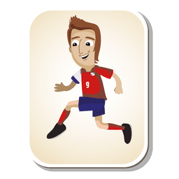Costa rica football player cartoon