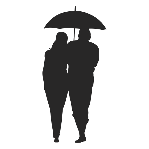 Couple with umbrella Transparent PNG