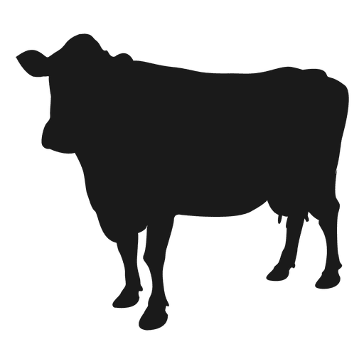 Silhueta de vaca Transparent PNG