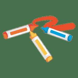 Marcadores de crayones