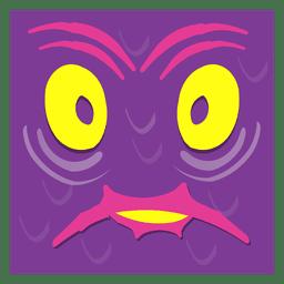 Verrücktes Gesicht Kunst