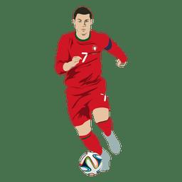 Cristiano ronaldo cartoon de futebol