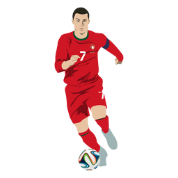 Cristiano ronaldo dibujos animados de fútbol