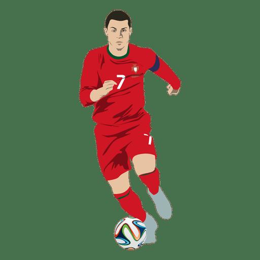 Cristiano ronaldo football cartoon