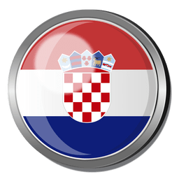 Croatia flag badge