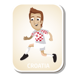 Croatia football player cartoon