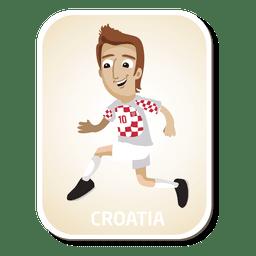 Desenho de jogador de futebol da Croácia