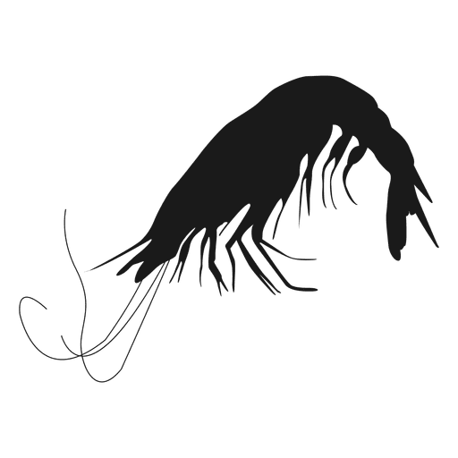 Silueta de crustáceos Transparent PNG