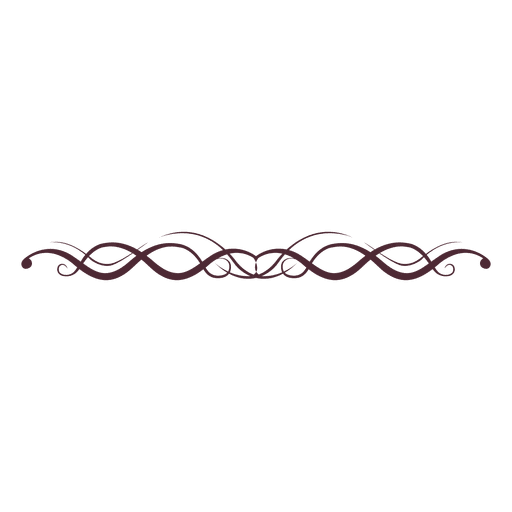 Line Design Images : Curly lines divider transparent png svg vector