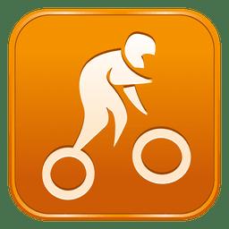 Ciclismo bmx icono cuadrado