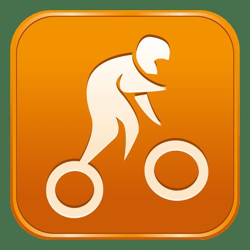 Ciclismo ícone quadrado de bmx Transparent PNG