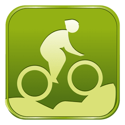 Ciclismo de montaña icono cuadrado de bicicleta