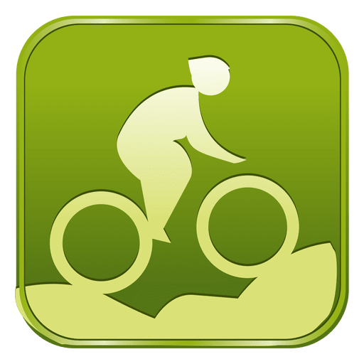 Cycling mountain bike square icon Transparent PNG