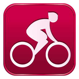 Cycling road square icon
