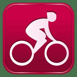 Icono cuadrado de carretera de ciclismo