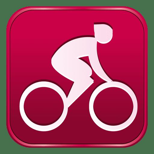 ícone quadrado estrada de ciclismo baixar png svg transparente