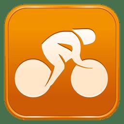 Ciclismo pista icono cuadrado