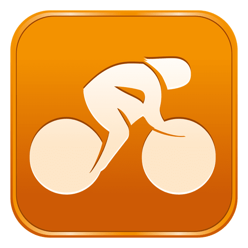 Cycling track square icon