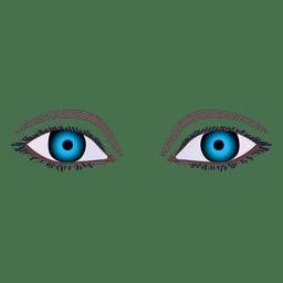 Ojo de mujer azul oscuro