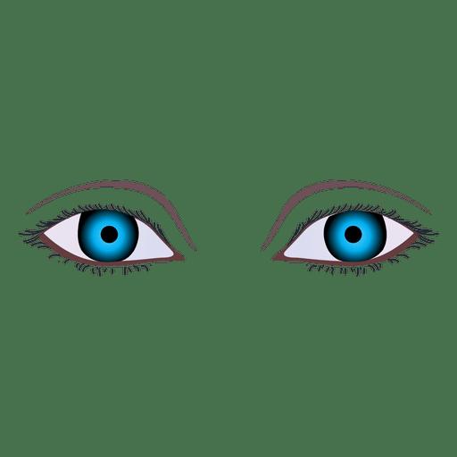 Dark blue woman eye