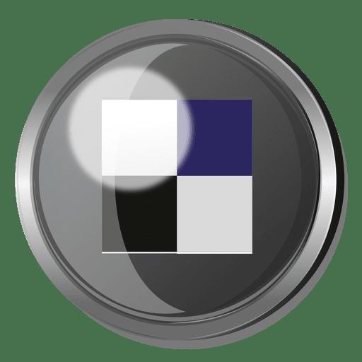 Delicious round metal button