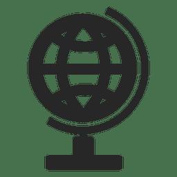 Globus-Schreibtisch-Symbol