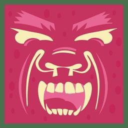 Arte de la cara del diablo
