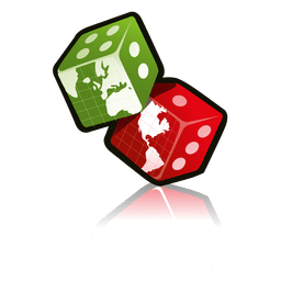 Dice with map