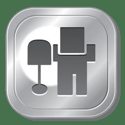 Botón de metal Digg