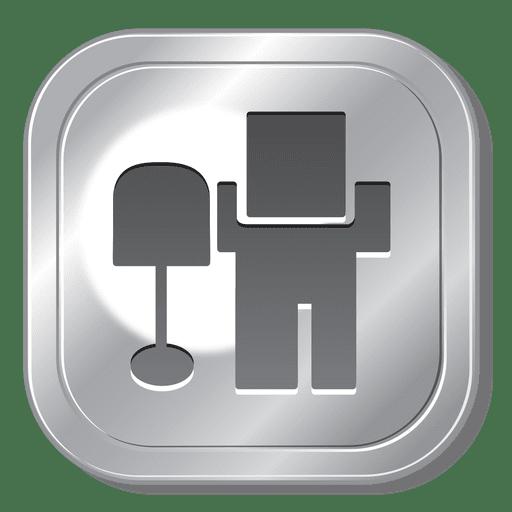 Digg metal button Transparent PNG