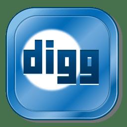 Digg metallic button